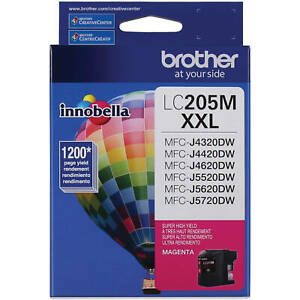 Genuine Brother LC205 XXL Magenta Super High Yield Ink Cartridge (LC205M) Single
