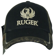 Authentic RUGER Camo Trim Logo Embroidered Adjustable Fit Hat Cap NEW