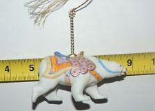 Vintage 1989 Lenox Carousel Polar Bear Christmas Ornament 3.5 x 3.75 Inches