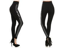 High Waist Sports Legging seamless Jeggings skinny full length pants Black/white