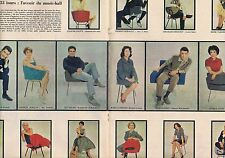 Coupure de presse Clipping 1958 La nouvelle chanson française (13 pages)