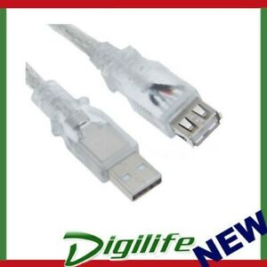 Astrotek USB 2.0 Printer Cable 5m Type A Male to Type B Male Transparent Colour