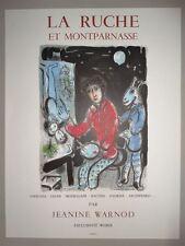 Marc Chagall Montparnasse-Lithographie sorlier manifesto bei Mourlot,1978