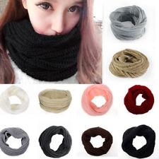 Bufanda de lana calida cuello circular chal invierno frio mujer varios colores