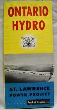 ONTARIO HYDRO CANADA ST. LAWRENCE POWER PROJECT SOUVENIR BROCHURE 1965 VINTAGE