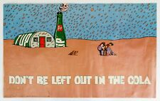 "1971 33x20"" 7Up UnCola Milton Glaser Dont Be Left Out In The Cola soda ad poster"
