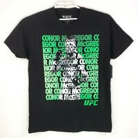 UFC Conor Mcgregor Mens Size M Black Fight MMA Short Sleeve Graphic T Shirt