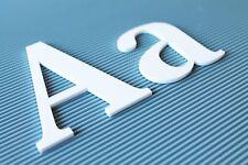 3D Plexiglas Buchstaben aus 3mm  Acrylglas XT weiss  Beschriftung