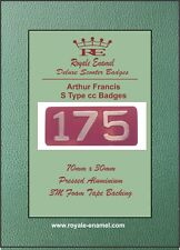 """Pressed Aluminium AF """"S Type"""" 175cc Replica Badge Arthur Francis Lambretta"""