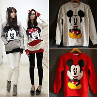 Women Lady Cartoon Mickey Mouse Hoodie Sweatshirt Coat Long Sleeve Pullover Tops
