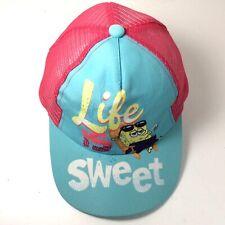 Spongebob Squarepants Nickelodeon Snapback Hat Cap One Size Pink and Light Blue
