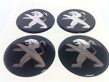PEUGEOT Autocollant Sticker Centre de Roue Cache Moyeu Jante Silicone 4 x 60mm