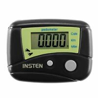 LCD Digital Pedometer Mini Clip Pedometer Calorie Counter Walking Step Black