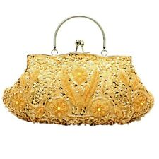 Ladies Evening Party Clutch Totes Beaded Purse Fashion Mini Chain Bags 8 Colors