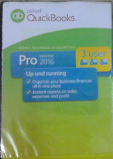 Intuit Quickbooks Pro 2016 accounting software    DVD   3 User