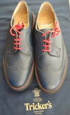 TRICKER'S Navy Scotch grain Gibbons Size 8 VIBRAM sole