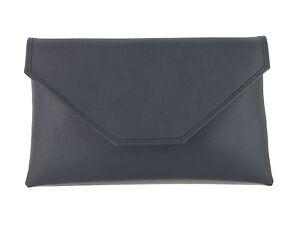 LONI Stylish Large Envelope Faux Leather Clutch Bag/Shoulder bag Wedding bag