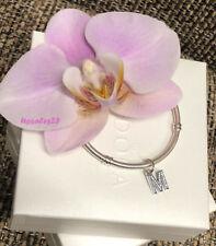 Pandora Letter M Charm, Bracelet Bead Dangle, Original, Brand New, #791325CZ