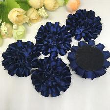 5pcs Blue and black ribbon big Peony Flower Appliques/Wedding decoration*