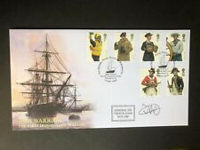 2009 HMS Warrior - Royal Navy Uniforms - First Day Cover. Signed.