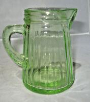 Vintage Green Depression Syrup Pitcher