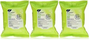 Almay Clear Complexion 4 in 1 Makeup Remover, 25 Towelettes (Pack of 3)