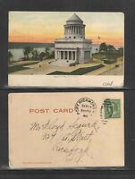 1909 GRANTS TOMB NEW YORK CITY NY UDB UNDIVIDED BACK POSTCARD