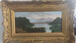 Original Sidney Richard Percy RBA Antique 19th Century Landscape Oil Painting.