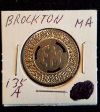 MA135C Brockton Eastern Massachusetts Street Railway Company transit token
