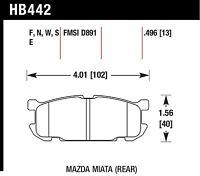 Hawk Performance HB442F.496 Virtually Noise-Free Disc Brake Pads