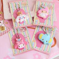 Hello Kitty My Melody Cinnamoroll Little Twin Star Key Cap Cover Chain Keyring