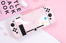 Cat Pink Hard Case Cover Shell for Nintendo Switch Console Jon-Cons Pink