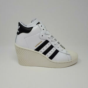 NEW Adidas Superstar Ellure Women's Shoe Sneaker FW0102 Casual Wedge Heel Size