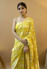 New Bollywood Banarasi Silk Saree Sari Ethnic Party Wear Kanchipuram Indian