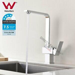 WELS Square Kitchen Mixer Laundry Sink Tap Basin Faucet Swivel Bath Spout Chrome