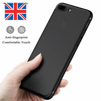 For Apple iPhone 8 Plus Shockproof Strong Silicone Case TPU Cover Shell Black