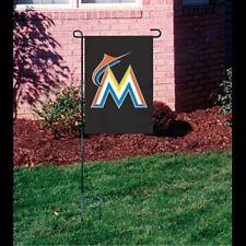 "Miami Marlins Embroidered 15""x10.5"" Garden/Window Flag ( New )"
