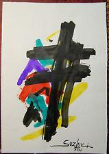 dipinto acquerello bozzetto MAIL ART 2008 TAKASHI SUZUKI watercolor painting