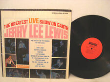 JERRY LEE LEWIS THE GREATEST LIVE SHOW ON EARTH ROCK N ROLL LP RED SMASH LABEL