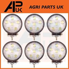 6 x 18W LED work Light Lamp 12V Flood Beam 24V Round Trailer Offroad 4X4 Digger