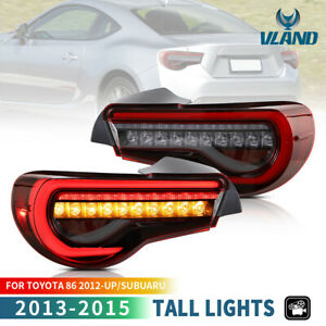 LED Tail Lights for 2012-2019 Toyota GT-86 / SUBARU BRZ Sequential Indicator Red