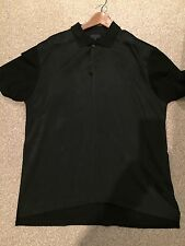 Lanvin Men's Polo Shirt. Silk Front. Black Size Xl