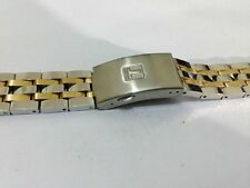 TISSOT SPORTS 2/TONE S/STEEL/GOLD PLATED GENTS WATCH STRAP,19MM,( REF# TISS-22 )