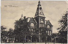 Ocean Grove,New Jersey,Post Office,Monmouth County,Used,Flag Canel,1909