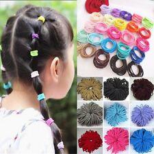 50Pcs Black Elastic Rope Women Hair Ties Ponytail Holder Head Band Hairbands
