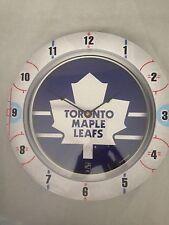 Toronto Maple Leafs NEW Fan Clock . NHL Hockey Wincraft House Garage Man Cave
