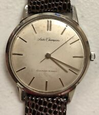 VINTAGE Seiko Champion Hand-Winding Manual Mens Watch Stainless 19 Jewels Runs