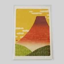 Japanese Mt.Fuji Postcard ,red Fuji,from Japan