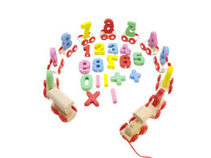 Wooden Train with Numbers Educational Toys Fine Motor Skills Hand Eye kids toys