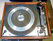 Vintage DUAL 1219 Turntable Record Player LP United Audio Wooden Plinth Works